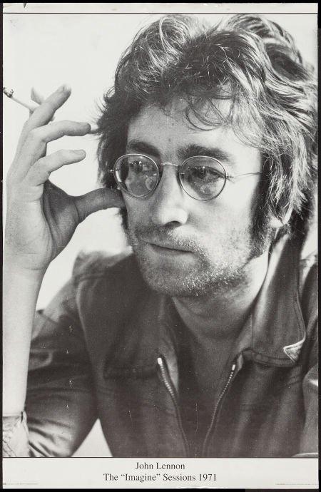 JOHN LENNON POSTER - THE IMAGINE SESSIONS -1971