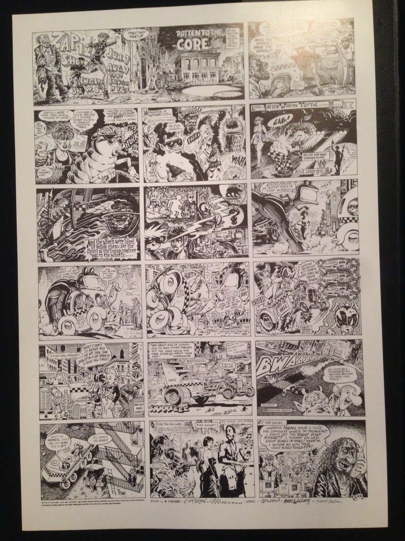 Rotten to the Core, A Zap Jam, Robert Crumb Poster
