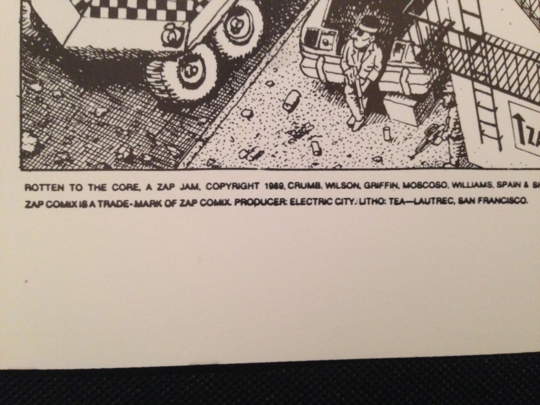 Rotten to the Core, A Zap Jam, Robert Crumb Poster - 2