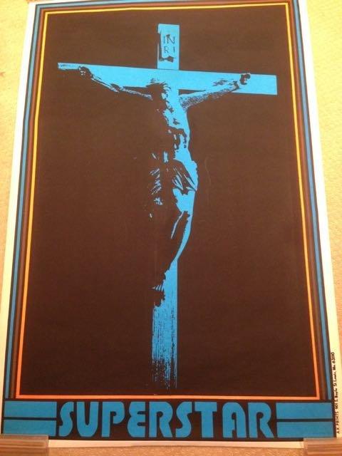 RARE BLACKLIGHT JESUS CHRIST SUPERSTAR POSTER