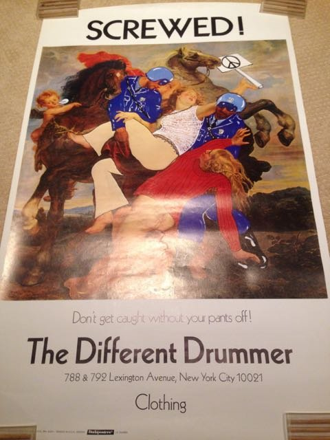 VINTAGE DIFFERENT DRUMMER NY STORE POSTER