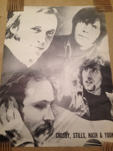 VINTAGE CROSBY STILLS NASH AND YOUNG POSTER