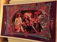 Led Zeppelin  LA Forum Concert Poster  SIGNED