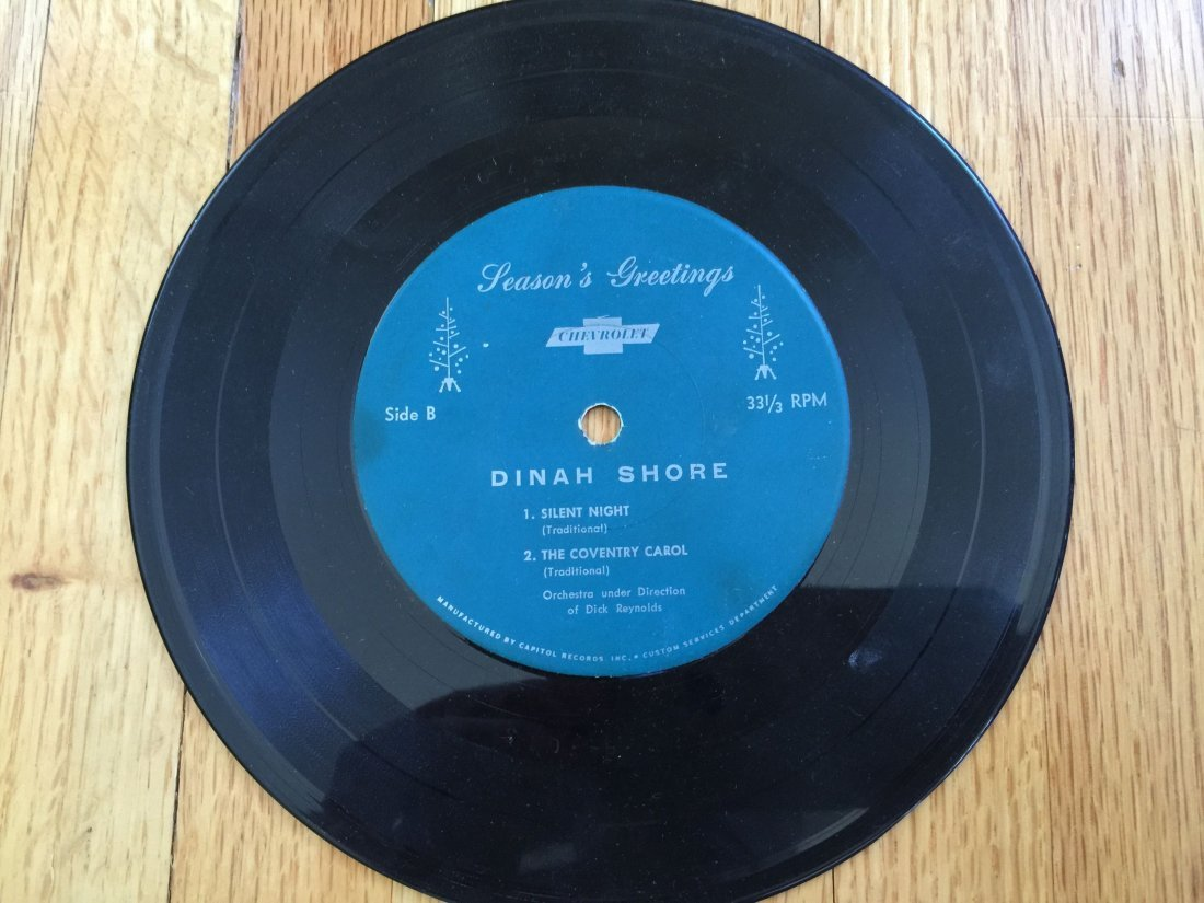 DINAH SHORE 45RPM RECORD By Chevrolet