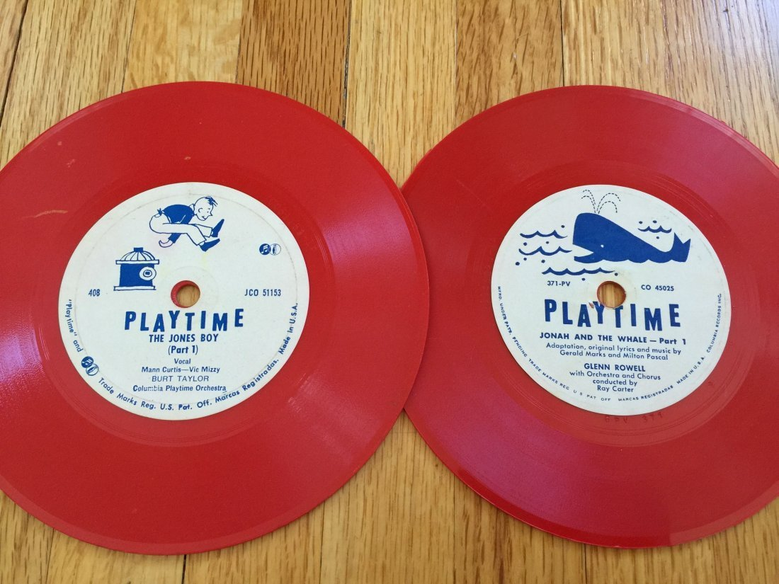 2 VINTAGE PLAYTIME 45RPM RECORDS
