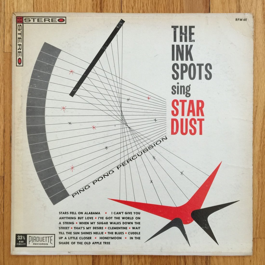 THE INK SPOTS SING STARDUST - 33LP RECORD