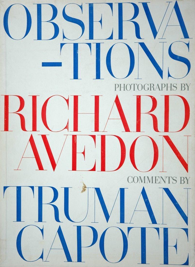 AVEDON, Richard. Observations, Simon and Schuster 1959