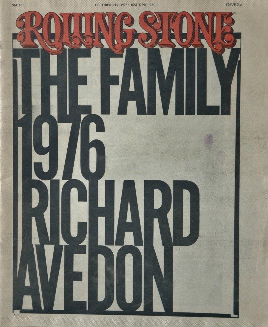 AVEDON, Richard. The Family 1976, Rolling Stone 1976