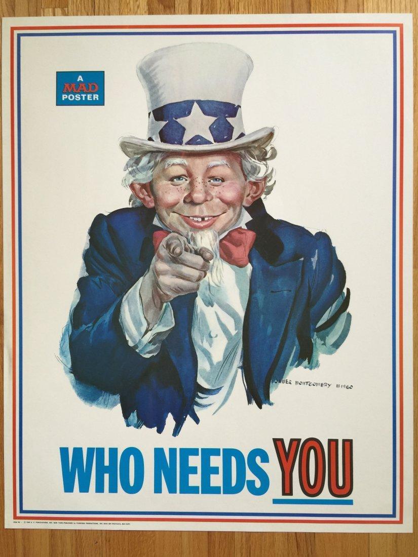 Mad Magazine Poster Alfred E Neuman 1969