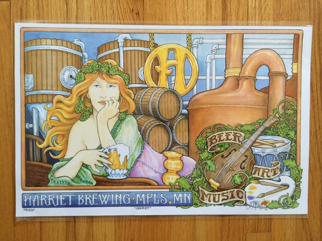 HARRIET BREWING MINNEAPOLIS - SIGNED AND NUMBERED
