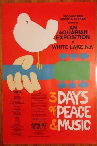 VINTAGE ROCK POSTER AUCTION Woodstock Original