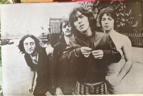 Rare Beatles Poster - 1969 - Pandora - Great History