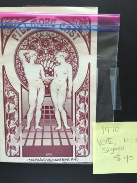 Fillmore East Program - Designed & Signed By Byrd