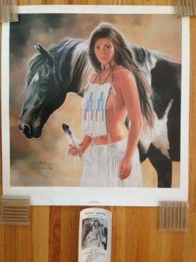 Desert Dawn - American Indian Woman. 1994. Maija