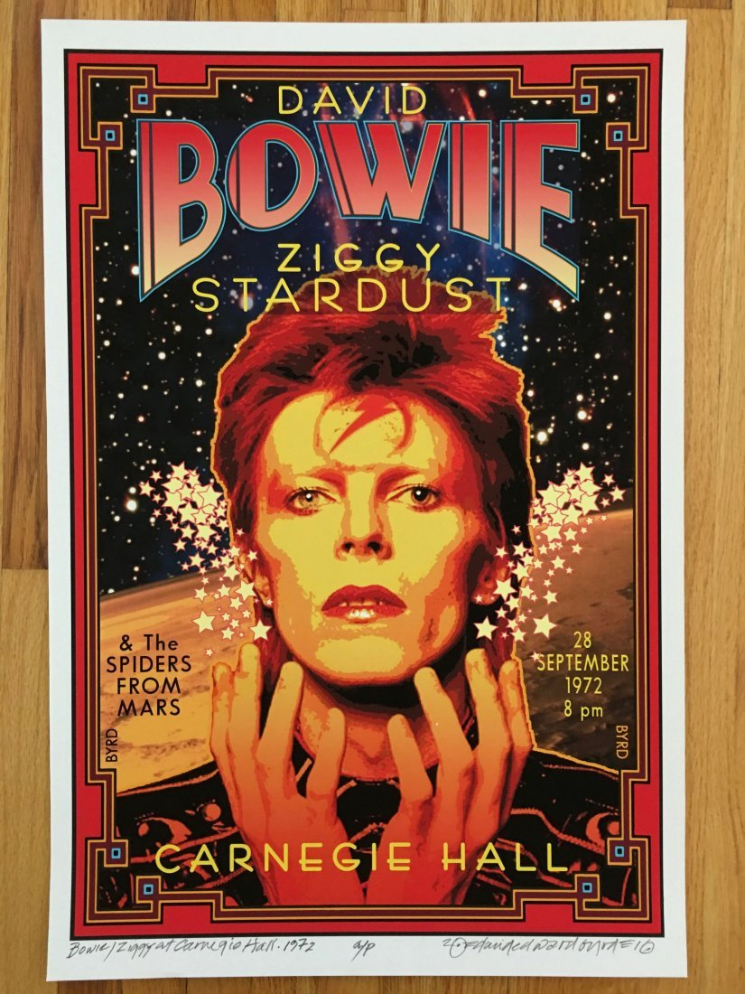 DAVID BOWIE - SIGNED BY ARTIST