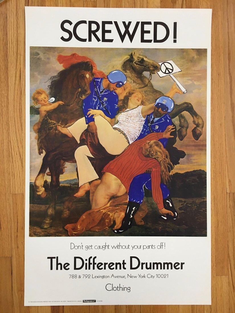 SCREWED - VINTAGE DIFFERENT DRUMMER NY STORE POSTER
