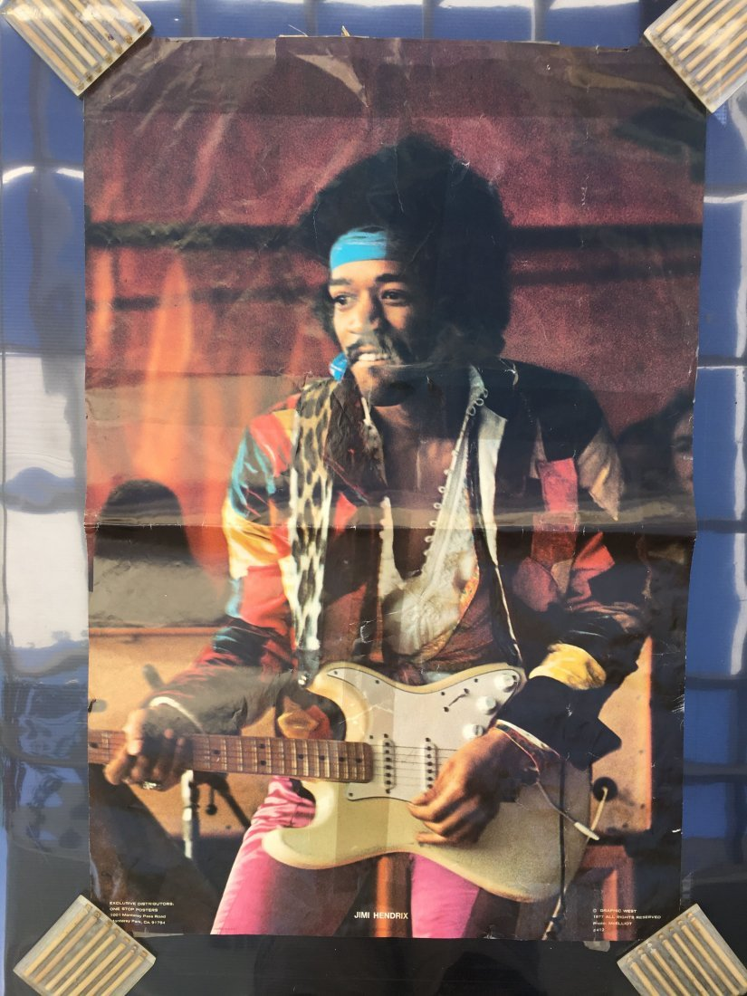 TWO VINTAGE 70'S JIMI HENDRIX POSTERS