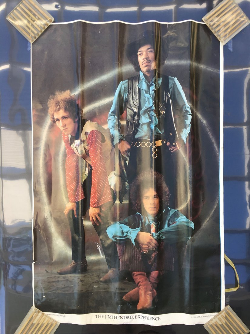 TWO VINTAGE 70'S JIMI HENDRIX POSTERS - 2