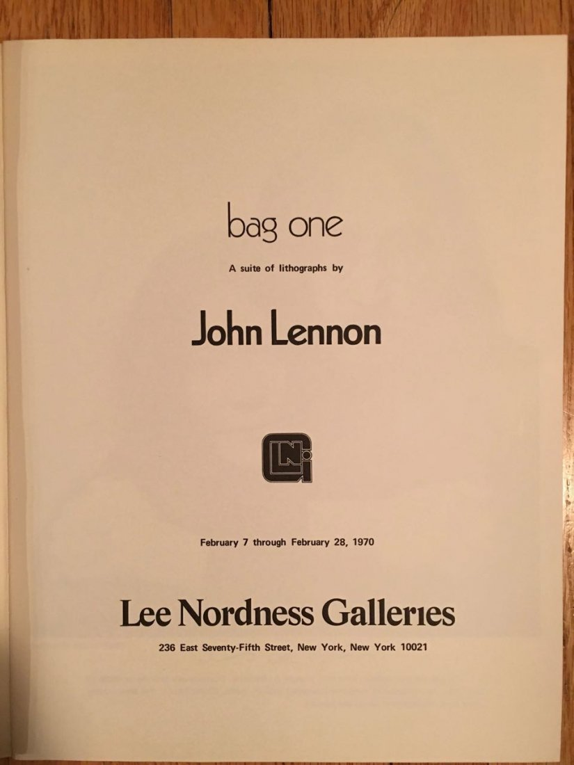 Bag One book of John Lennon Sketches - 4