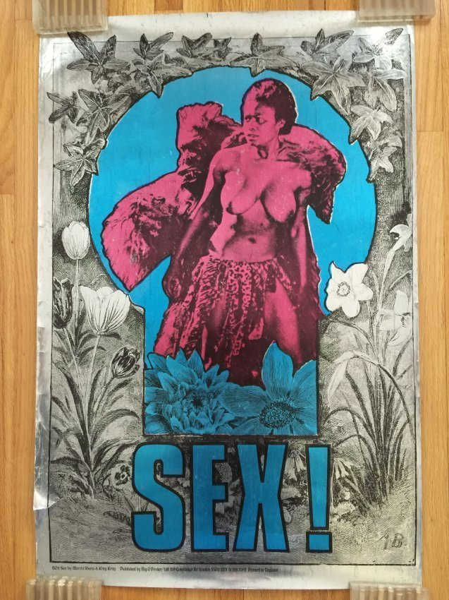 SEX!  FOIL POSTER By Martin Sharp - Big O Posters