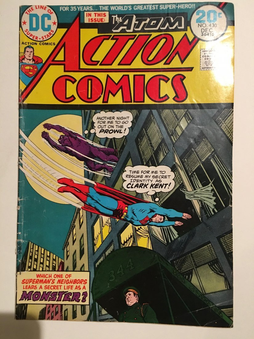 Action Comics 430 DC 1973 VG Superman Atom