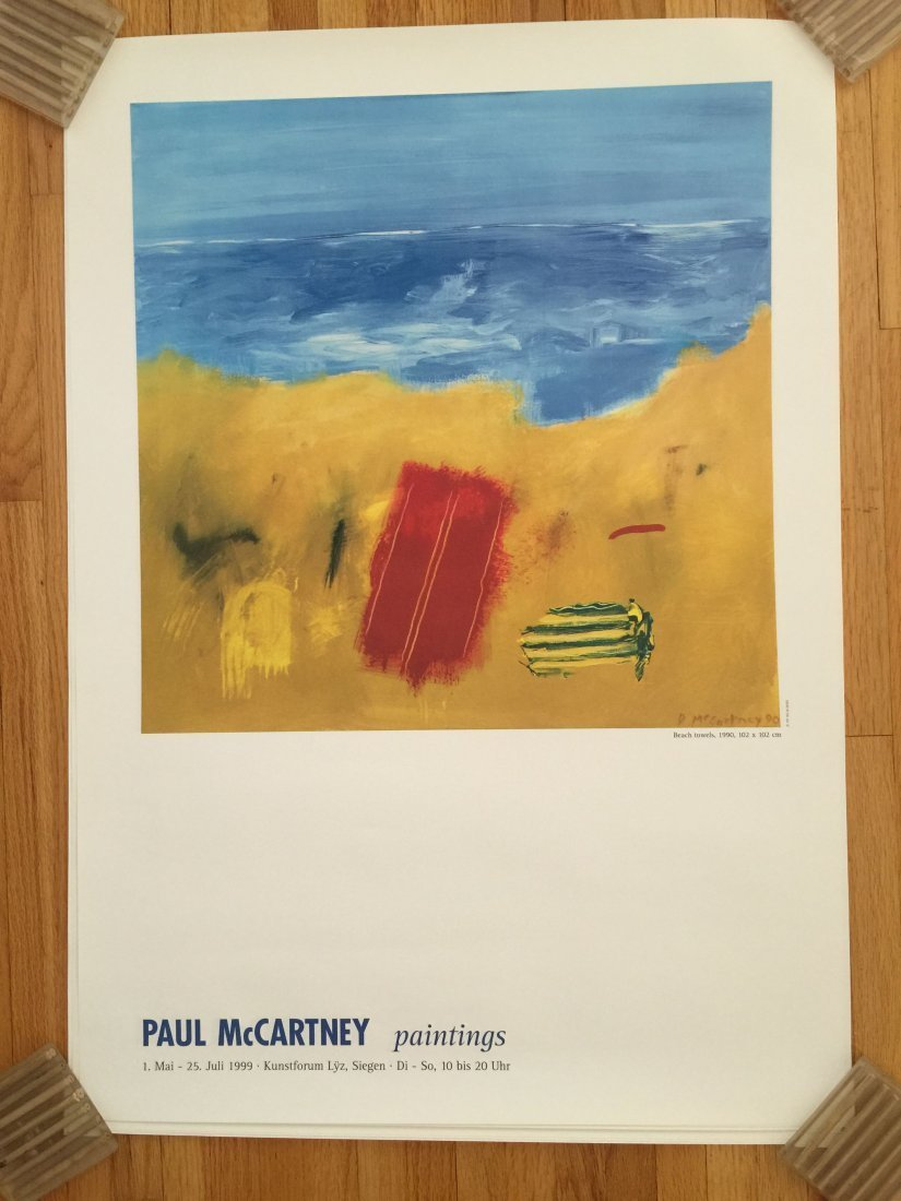 SIR PAUL MCCARTNEY BEACH TOWEL POSTER