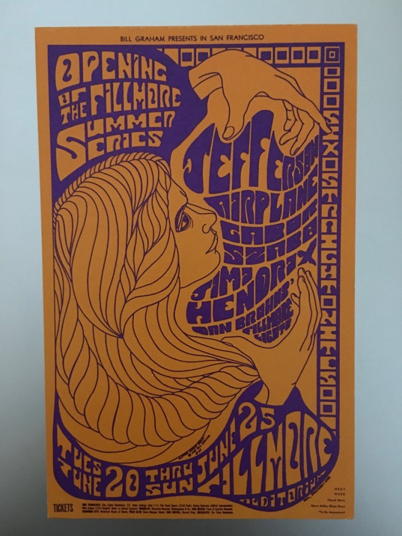 Jefferson Airplane - JIMI HENDRIX ! - Postcard - BG69