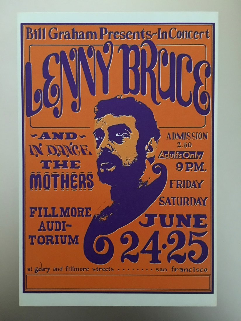 LENNY BRUCE - POSTCARD - 3rd
