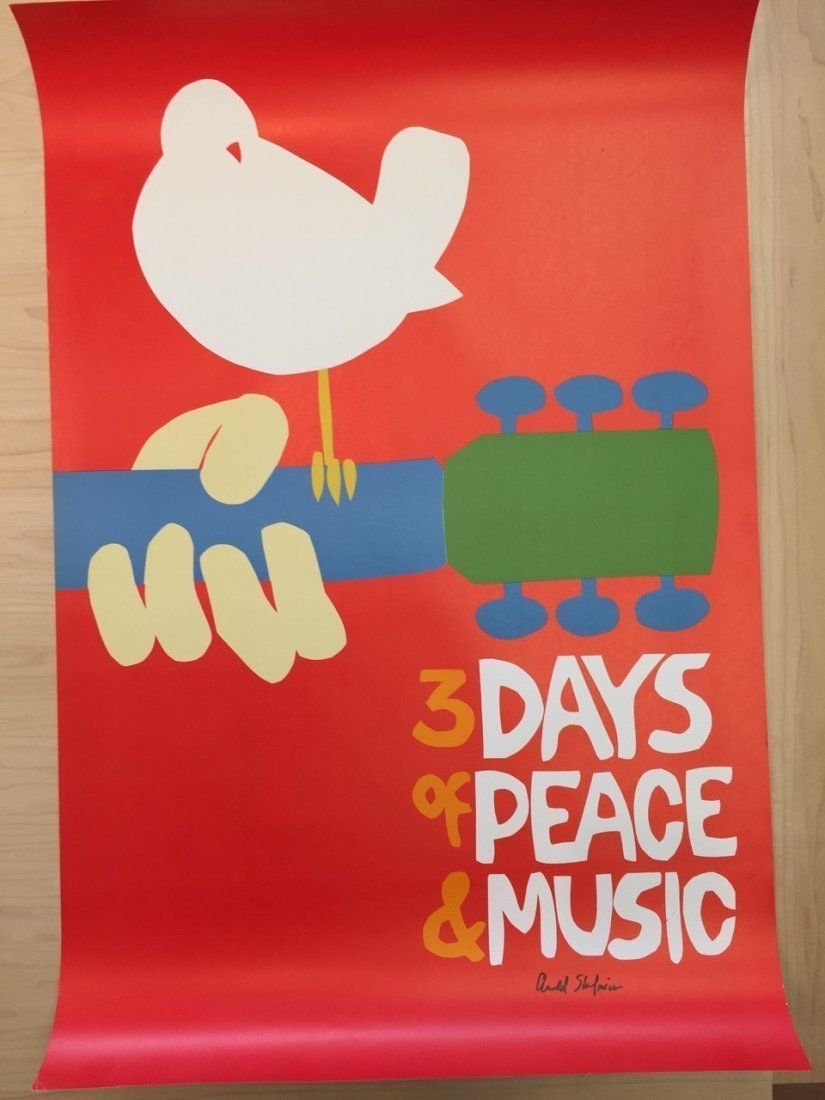 SUPER RARE - Woodstock - no back plate signed by artist