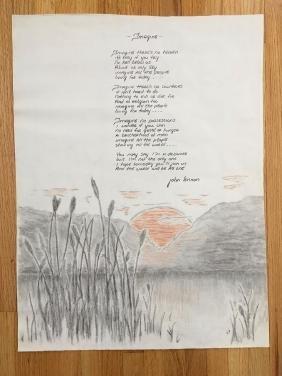 JOHN LENNON - IMAGINE - ORIGINAL POSTER DRAWING