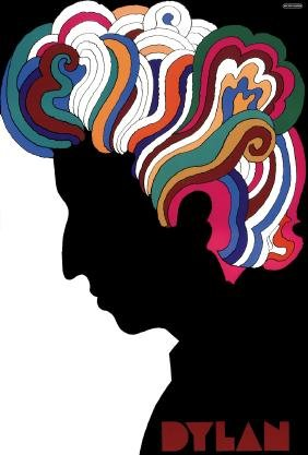 BOB DYLAN - MILTON GLASER POSTER - With TWO ALBUMS