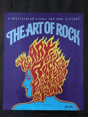 THE ART OF ROCK PROMO POSTER - SIGNED BY WES WILSON