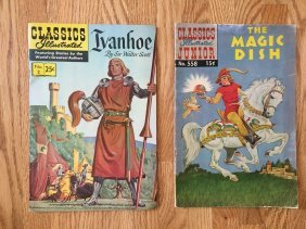 TWO CLASSICS ILLUSTRATED COMIC BOOKS !