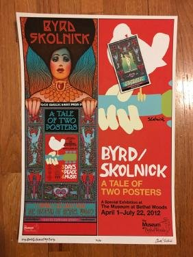 BYRD SKOLNICK TALE OF TWO POSTERS - SIGNED and #ed