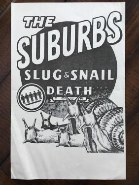THE SUBURBS - TOUR POSTER