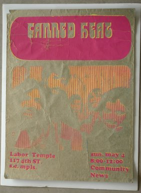 LABOR TEMPLE ORIGINAL POSTER - CANNED HEAT