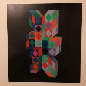 Victor Vasarely Bookplate 6 - From 1971