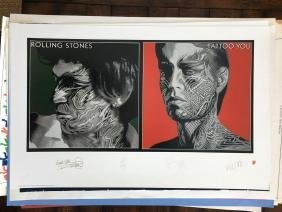 ROLLING STONES - TATTOO YOU - SIGNED IN PLATE