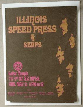 LABOR TEMPLE ORIGINAL POSTER - ILLINOIS SPEED PRESS