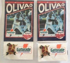 TONY OLIVA Cloisonné pin set