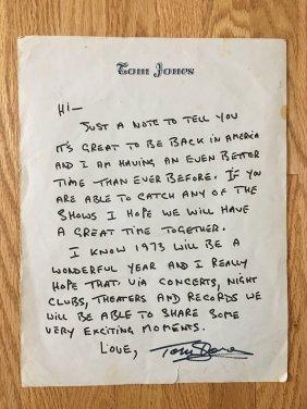 TOM JONES LETTERHEAD - NOTE