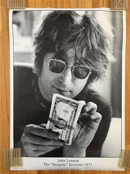 Rare The Imagine Sessions Poster John Lennon Wad Mar 18 2017 Pashco Posters In Mn