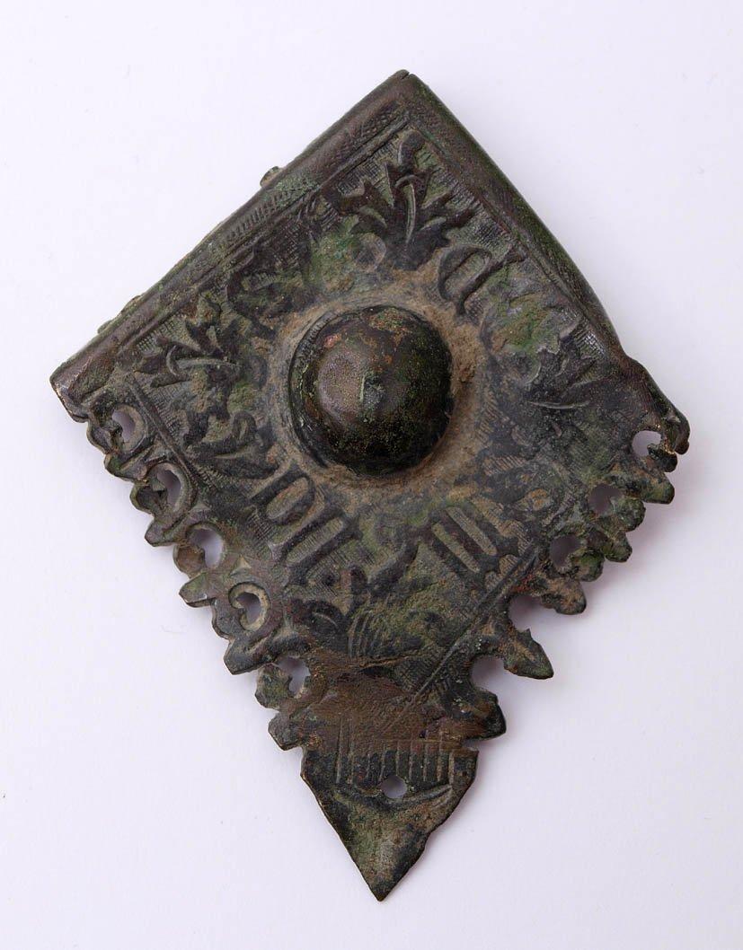 15: Ecke eines Bucheinbandes, deutsch, um 1500