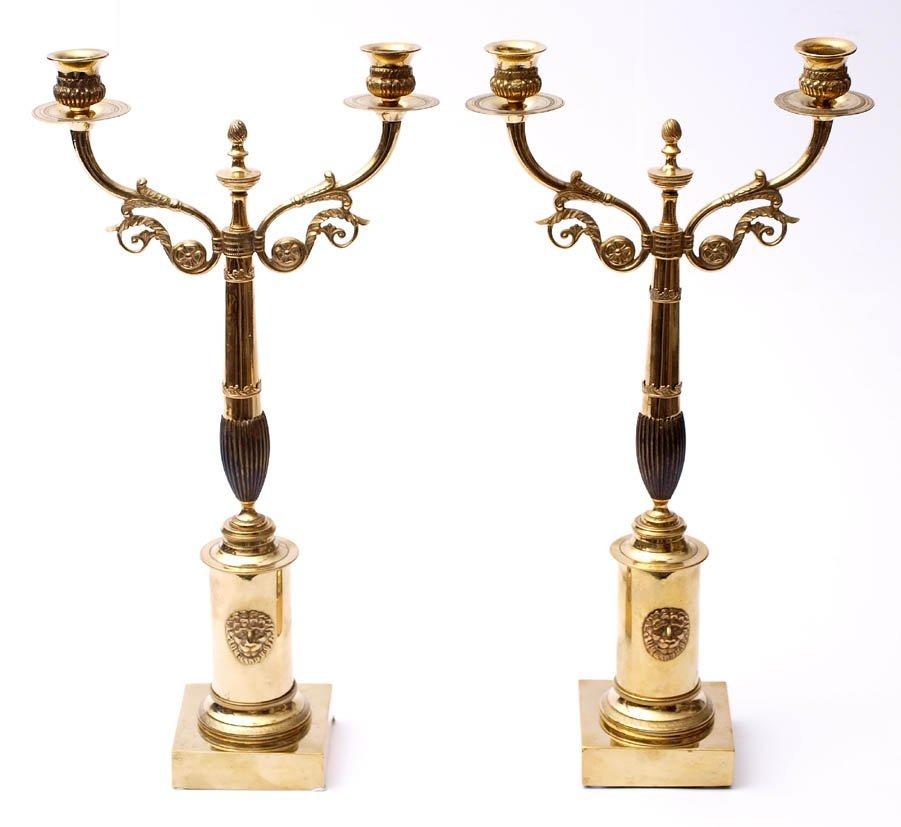 202: Paar Prunk-Tafelleuchter, Schweden, um 1810