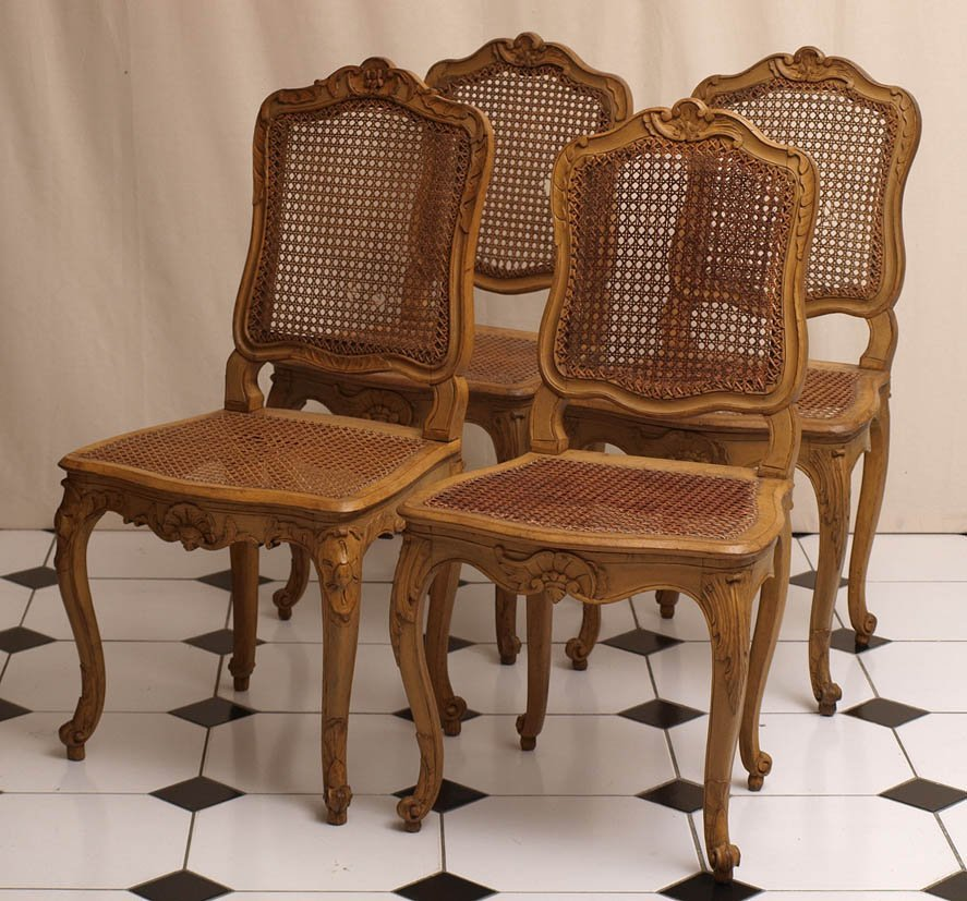 810: Vier Barockstühle, norddeutsch, um 1750