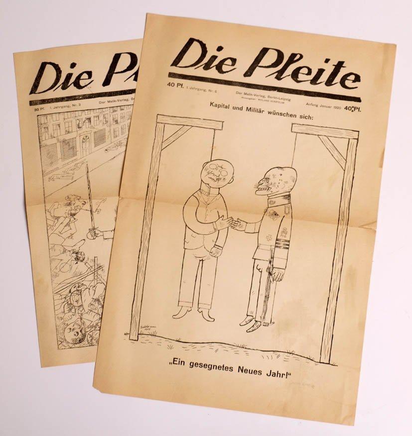 Zwei Ausgaben 'Die Pleite', 1919/20