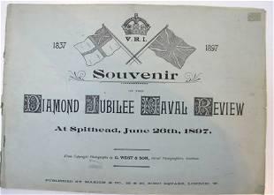 DIAMOND JUBILEE NAVAL REVIEW Souvenir 1897 Spithead Vic