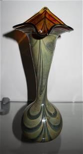 "Jack In Pulpit Iridescent Striped 11"" Vase"