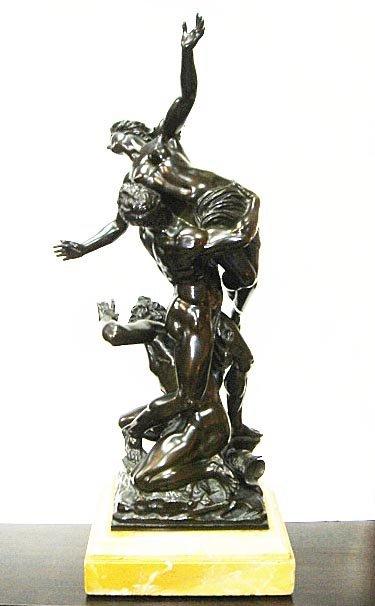 24: Bronze by JEAN DE BOLOGNA Rape of Sabine