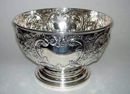 120: William IV Sterling Rose Bowl by ROBERT GARRARD 58